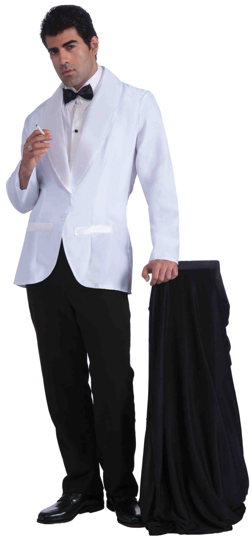 Mens formal white jacket fancy dress costume james bond gangster outfit new 721773683817 ebay - James bond costume ...