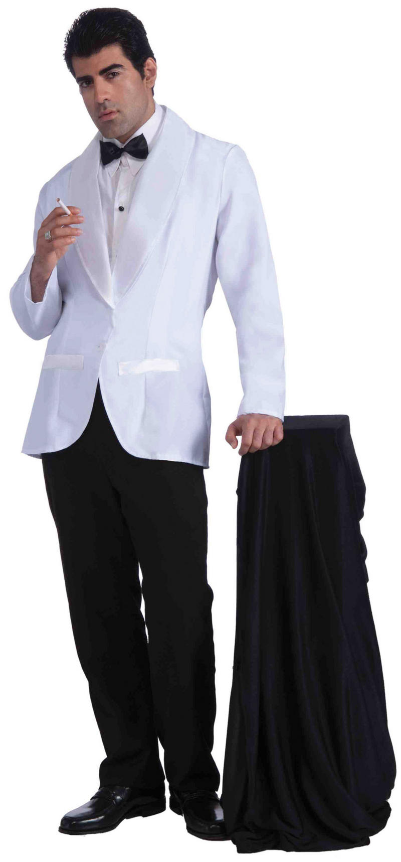 Mens Formal White Jacket Fancy Dress Costume James Bond Gangster Outfit New