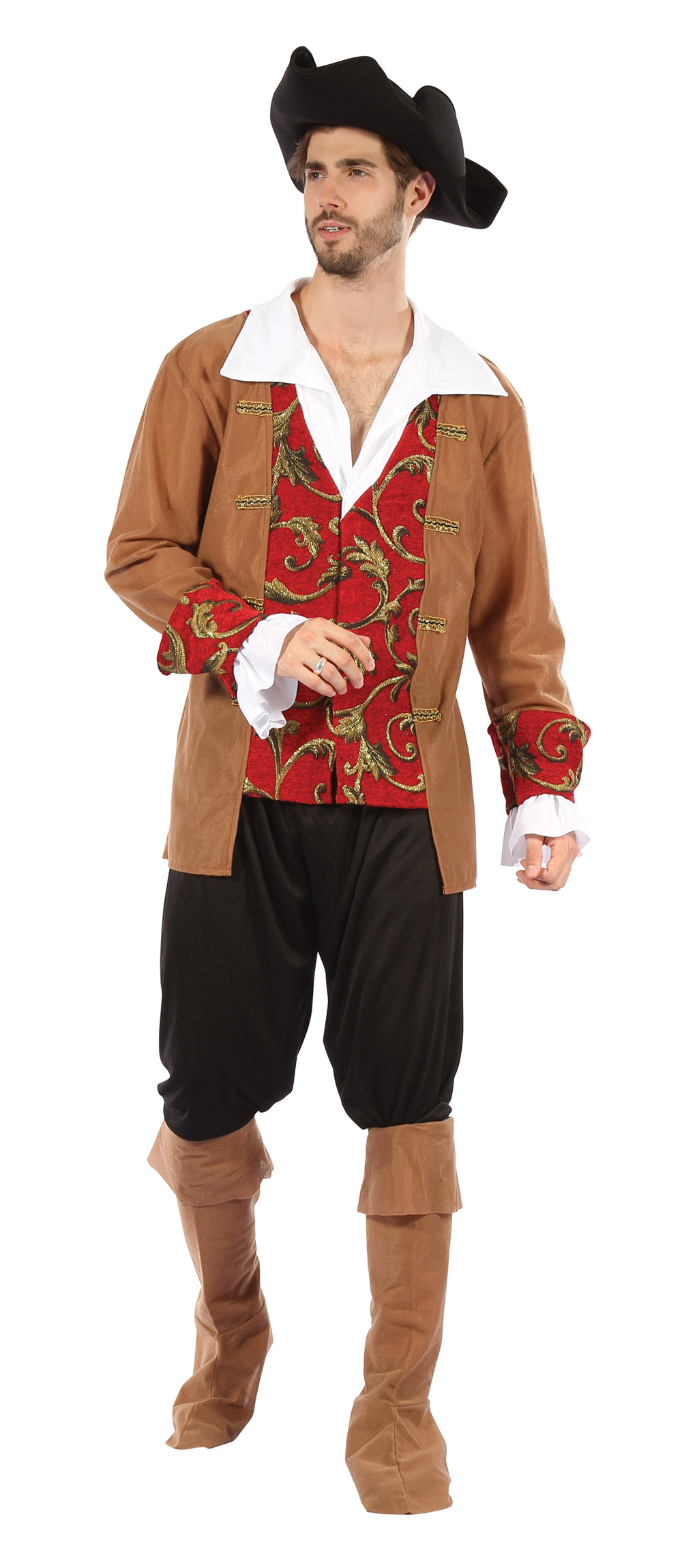 Mens Pirate Fancy Dress Costume Pirates Of The Caribbean Halloween Outfit New