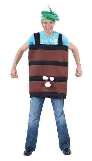 Barrel Fancy Dress Costume Stag Do German Oktober Beer Festival Outfit New