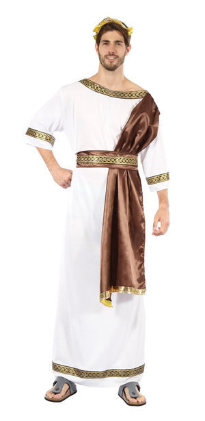 Greek God Toga Fancy Dress Costume With Sash Julius Caesar Ancient Roman Outfit
