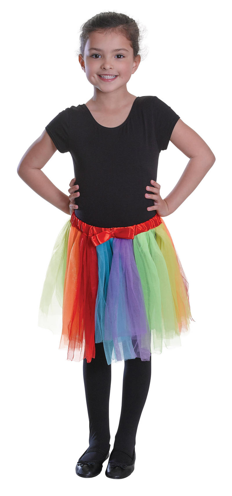 Childrens Rainbow Tutu Ballerina Fancy Dress Costume Fairy Tale Circus Outfit