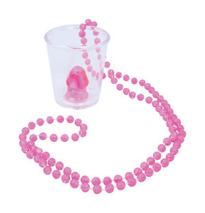 Willy Shotglass Necklace 90Cm Birde To Be Wedding Hen Party Novelty Accessory