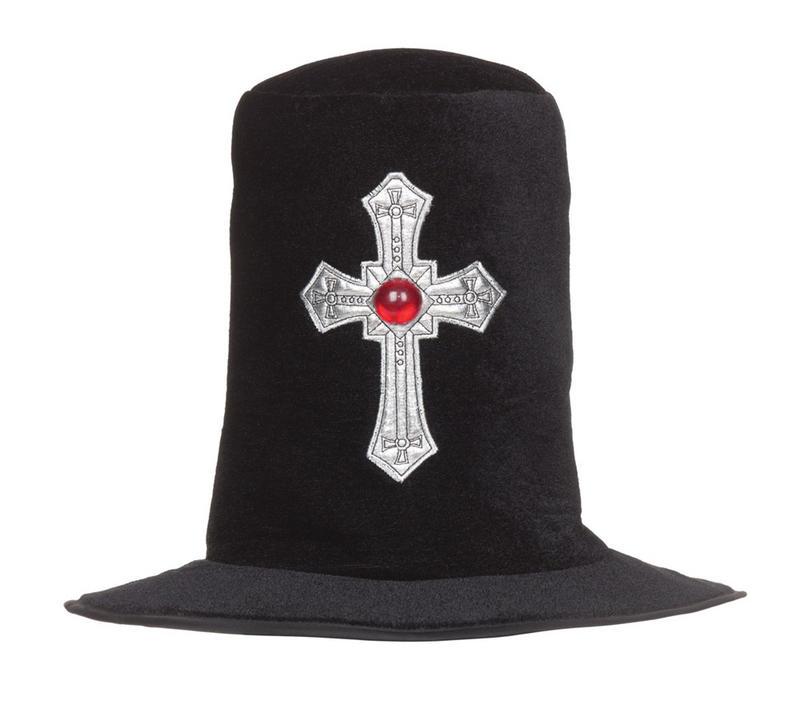 Black Velvet Top Hat Slash Fancy Dress Costume Halloween Rock Star Accessory