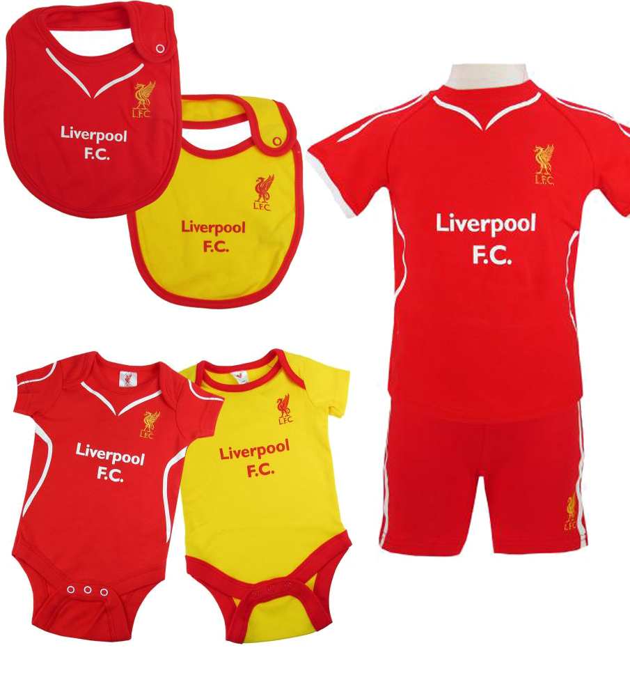 info for 7c16a 4071b Details about Liverpool Fc Home Kit Baby Childrens Bib Babygrow Sleepsuit  Clothing Pyjamas New
