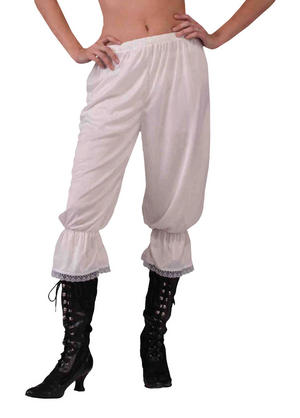 Womens Steampunk Pantaloons Fancy Dress Costume Pirate Saloon Girl Outfit Party