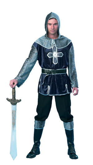 Mens Knight Lancelot L Fancy Dress Costume Medieval King Game Of Thrones Outfit