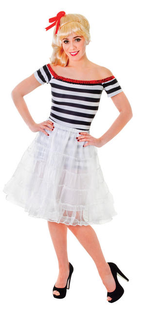 White Under Skirt Fancy Dress Costume Accessory 1950S Grease Rock & Roll Outfit