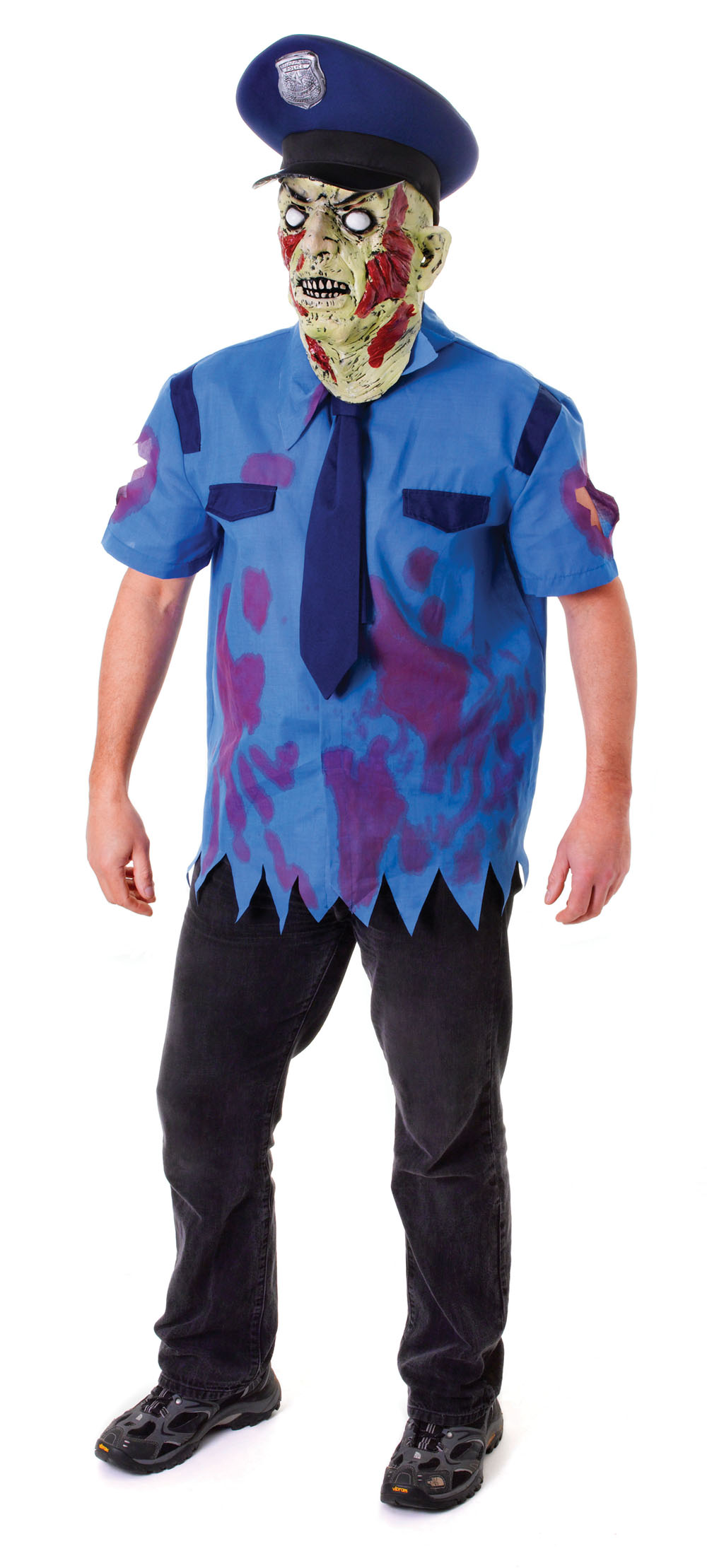 Zombie Cop Fancy Dress Costume Policeman Monster Halloween Horror Outfit Party