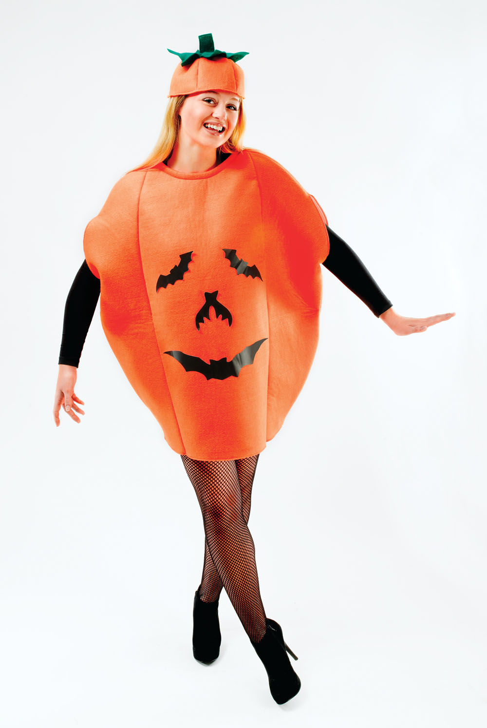 Adult Pumpkin Fancy Dress Costume Halloween Party Trick Or Treat Outfit Party
