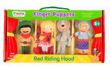 Little Red Riding Hood Story Time Finger Puppet Puppets Gift Set Kit Official