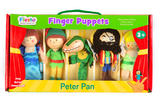 Peter Pan Set Story Time Finger Puppet Puppets Gift Set Kit Officiall 3+