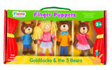 Goldilocks & 3 Bears Story Time Finger Puppet Puppets Gift Set Kit Officiall 3+