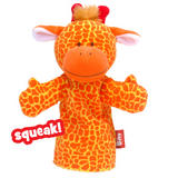 Childrens Squeaking Giraffe Zoo Animal Hand Glove Puppet Plush Toy Kids New