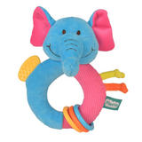 Elephant Ringaling Baby Teether Soft Toy Comforter Rattle Newborn Gift Boy Girl