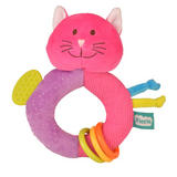 Cat Ringaling Baby Teether Soft Toy Comforter Rattle Newborn Gift Boy Girl