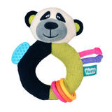 Panda Ringaling Baby Teether Soft Toy Comforter Rattle Newborn Gift Boy Girl