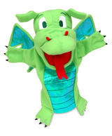 Green Dragon Monster Hand Puppet For Theatre & Story Time By Fiesta Crafts