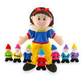 Snow White & The Seven Dwarfs Childrens Hand & Finger Puppet Complete Set Kit