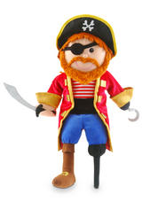 Pirate Captain Hand Puppet For Theatre & Story Time By Fiesta Crafts