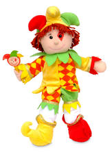 Court Jester Clown Hand Puppet For Theatre & Story Time By Fiesta Crafts