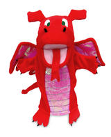 Red Dragon Monster Hand Puppet For Theatre & Story Time By Fiesta Crafts