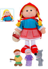 Little Red Riding Hood Hand and Finger Puppet Theatre Kit Set Fiesta Crafts