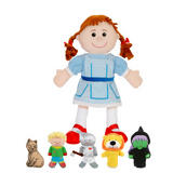 The Wizard of Oz Hand & Finger Puppet Show Kit Childrens Gift Set