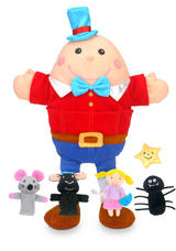 Nursery Rhymes Hand & Finger Puppet Set Humpty Dumpty Show Kit Childrens Gift