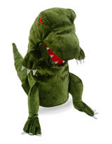 Green Dinosoaur T Rex Hand Puppet For Story Telling & Role Play Childrens Gift