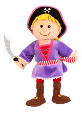 Pirate Girl Hand Puppet For Story Telling & Role Play Childrens Gift
