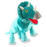 Triceratops Dinosaur Hand Puppet For Story Telling & Role Play Childrens Gift