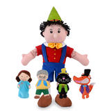 Pinocchio Hand & Finger Puppet Theatre Set Childrens Gift Toy By Fiesta Crafts