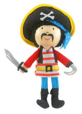 Stripes Pirate Hand Puppet For Story Telling & Role Play Childrens Gift New