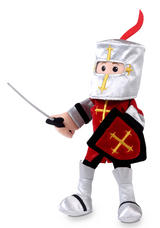 Red Knight Mike Hand Puppet For Story Telling & Role Play Childrens Gift New