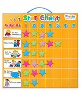 Childrens Magnetic Star Rewards Chart Set For Good Behaviour 36cm x 18cm