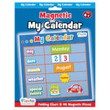 Childrens Small Blue Magnetic Calendar Educational Toy 36cm x 18cm Fiesta Crafts