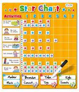 Large Childrens Magnetic Star Rewards Chart For Good Behaviour 217pcs
