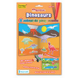Dinosaurs - Colour in Play Scene 54 Magnets & Reversible Board by Fiesta Crafts