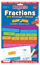Childrens Magnetic Fractions Decimal Maths Board by Fiesta Crafts