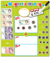Childrens Magnetics Money Board by Fiesta Crafts Learn Currency & Counting