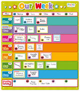 Childrens Days Of The Week Magnetic Learning Game by Fiesta Crafts  31cm x 35cm