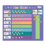 Extra Large Childrens Magnetic Rewards Star Chart by Fiesa Crafts 43cm x 38cm