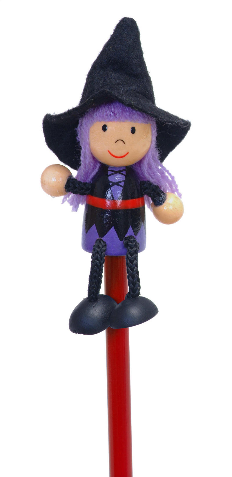 Hand Painted Witch Character Pencil & Topper Set Party Bags & Stocking Filler