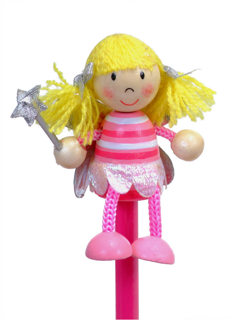 Hand Painted Fairy Character Pencil & Topper Set Party Bags & Stocking Filler