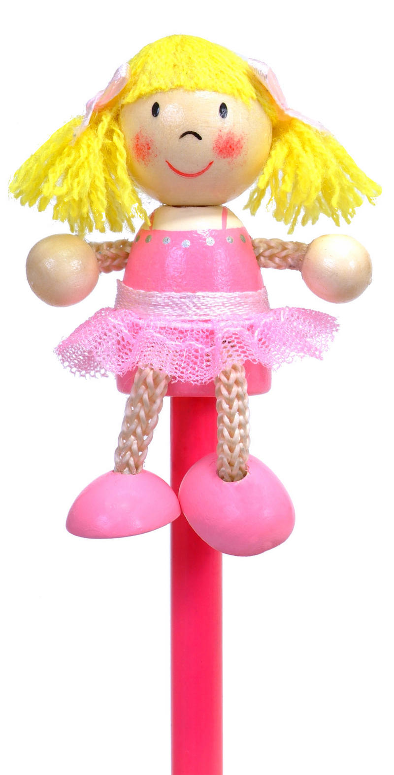 Painted Ballerina Character Pencil & Topper Set Party Bags & Stocking Filler
