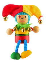 Clown Jester Fridge Magnet Toy by Fiesta Crafts - 3cm x 6cm - Age 3+