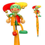 Yellow Polka Dot Clown Jester Pen & Topper Set - Fiesta Crafts - 19cm Long