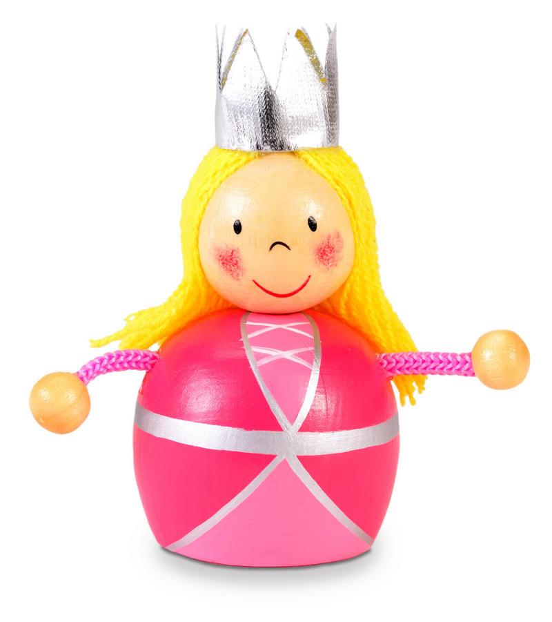 Pink Princess Pencil Sharpener by Fiesta Crafts - Hand Painted Finish