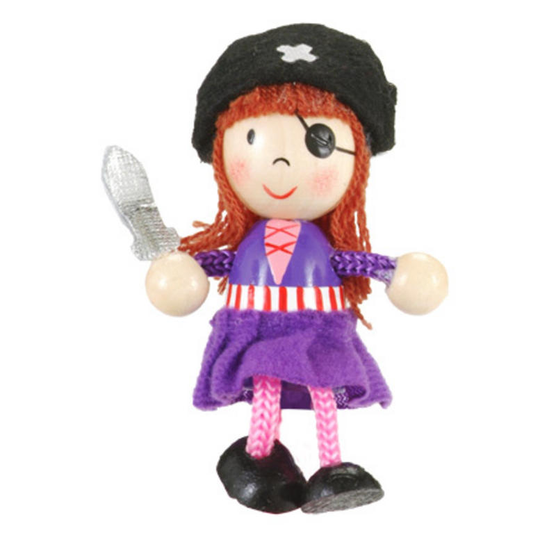 Girl Pirate Fridge Magnet Toy by Fiesta Crafts - 3cm x 6cm - Age 3+